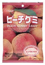 Kasugai Gummy Candy Peach 3.77oz