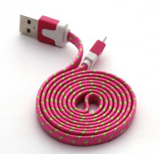 iPhone Lightning to USB Rose Red Braided 3ft Cable