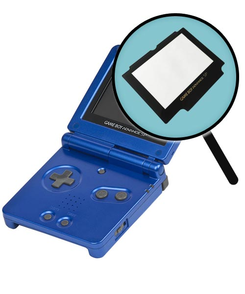 Game Boy Advance SP Repairs: Glass Screen Cover Replacement Service