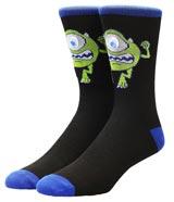 Monsters Inc Mike Wazowski Googly Eye Crew Socks