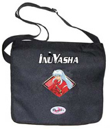 Courier^3 Inu Yasha Logo Pose Black Courier Bag