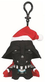 Star Wars Santa Darth Vader Mini Talking Plush Clip-On