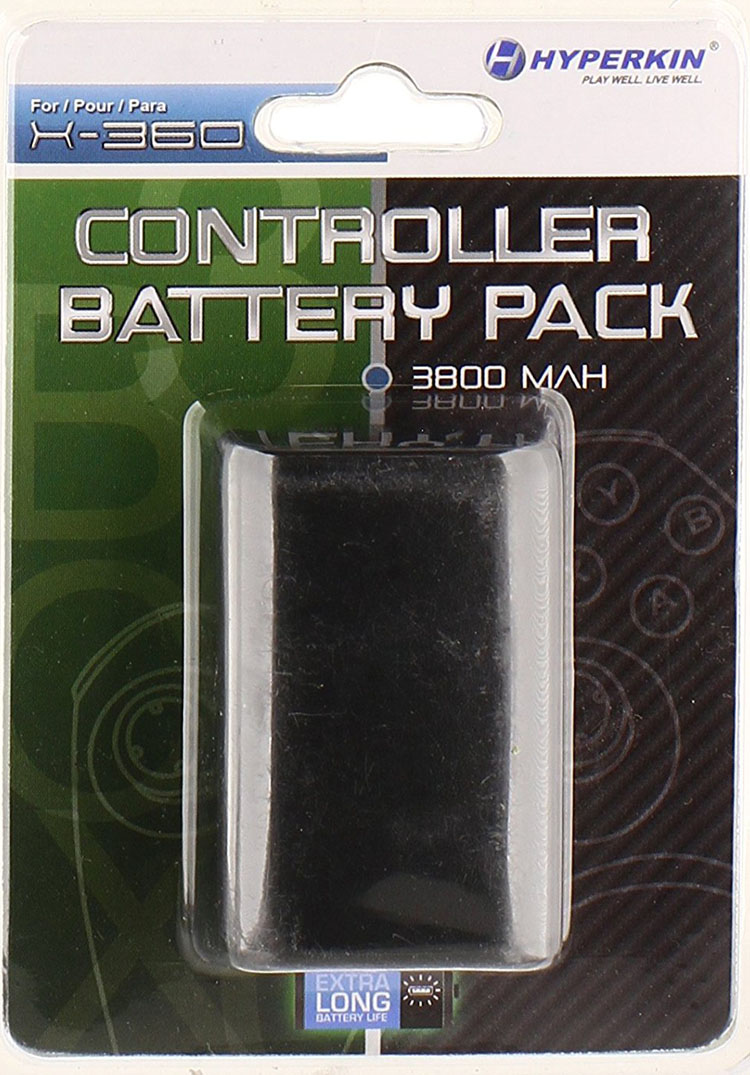 Xbox 360 Controller Rechargeable Battery Pack Black