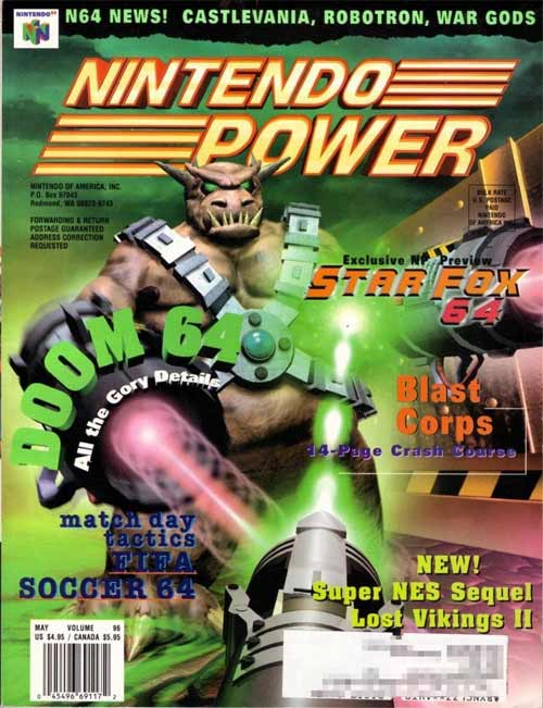 Nintendo Power Volume 96 Doom 64