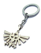 Legend of Zelda Triforce Silver Logo Keychain