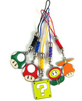 Super Mario Bros Power Ups Phone Charms