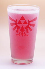 Arts & Crafts: Legend of Zelda Hyrulian Logo Frosted Custom-made 16oz Glass