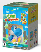 Yoshi's Woolly World & amiibo Light Blue Yarn Yoshi Bundle