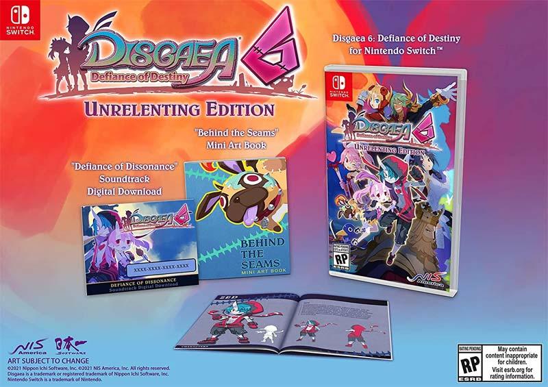Switch Disgaea 6 Defiance of Destiny Unrelenting Edition items