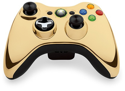 Xbox 360 Gold Chrome wiresless controller