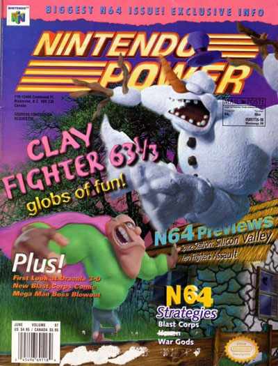 Nintendo Power Volume 97 Clay Fighter 63 1/3