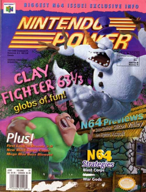 Nintendo Power Volume 97 Clay Fighter 63 1/3