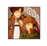 Attack On Titan SnK Jean & Marco Digital Print