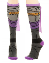 Teenage Mutant Ninja Turtles Shredder Knee High Cape Socks
