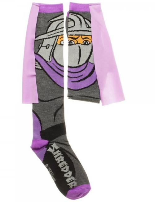 Teenage Mutant Ninja Turtles Shredder Knee High Cape Socks