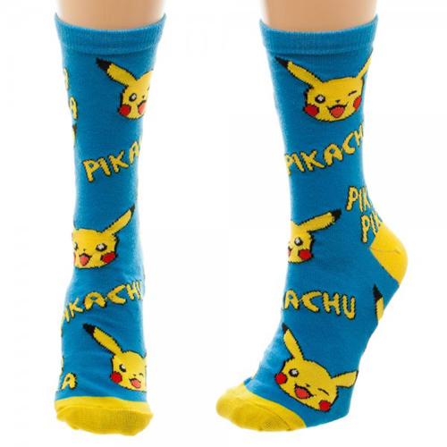 Pokemon Pikachu Jrs Crew Socks