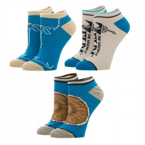 Legend of Zelda Breath of the Wild Ankle Socks 3 Pack