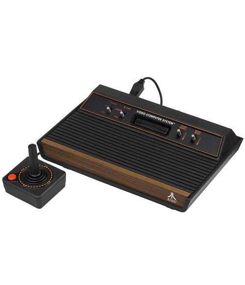 Atari 2600 System with 6 Games - Refurbished