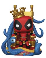 Pop Marvel Heroes King Deadpool on Throne Deluxe Vinyl Figure