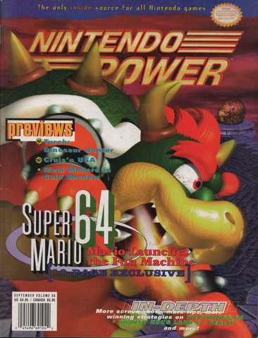 Nintendo Power Magazine Volume 88 Super Mario 64
