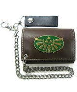 Zelda Gold Triforce Green/Brown Chain Wallet