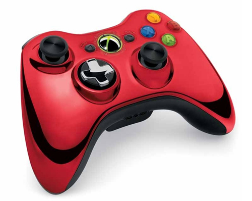 Xbox 360 Red Chrome Wireless Controller