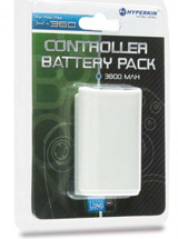 Xbox 360 Controller Rechargeable Battery Pack White By Hyperkin