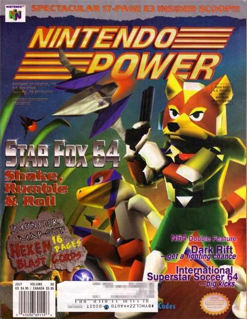 Nintendo Power Volume 98 Star Fox 64