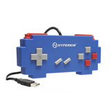 PC/MAC Pixel Art Blue USB Controller