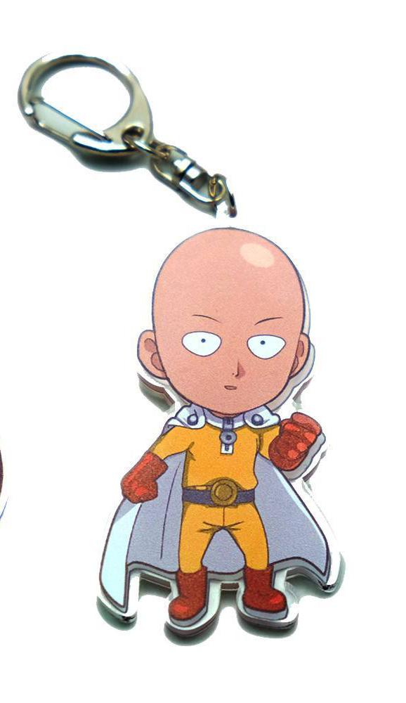 One Punch Man Saitama Keychain
