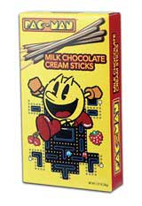 Pac-Man Chocolate Cream Sticks