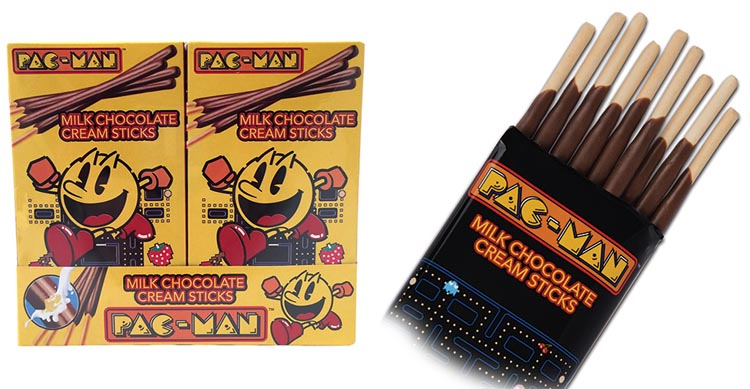 Pac Man Chocolate Sticks