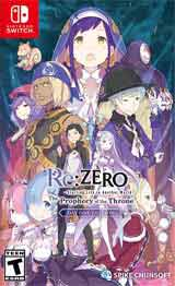 Re:ZERO The Prophecy of the Throne Day One Edition