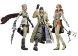 Final Fantasy XIII Play Arts Kai Action Figures (3 Figure Set)