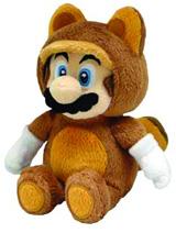 Super Mario Bros Tanooki Mario 9 Inch Plush