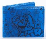 Nintendo Mario Bi-Fold Fat Free Blue Wallet