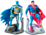 Superman and Batman Resin Bookend Set