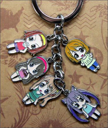 K-On! Characters Keychain