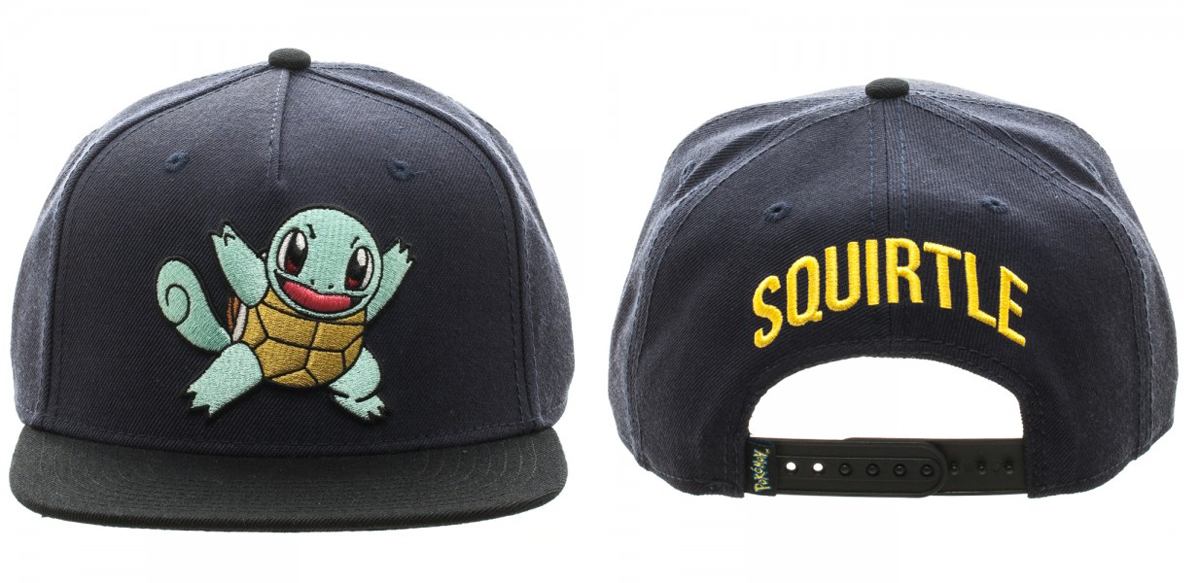 Pokemon Squirtle Color Block Snapback