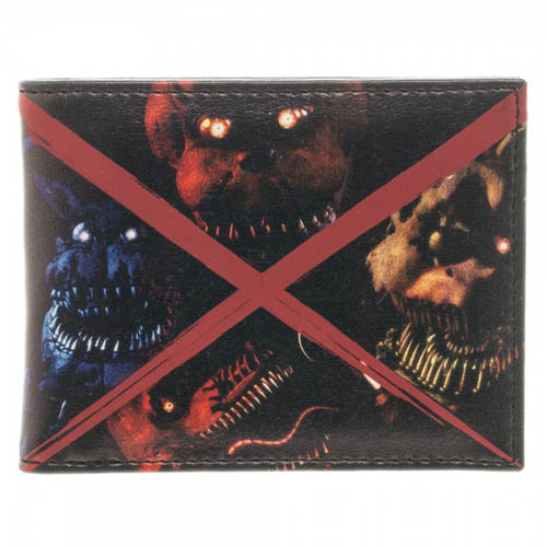 Five Nights At Freddy's Evil Faces Bi-Fold Wallet