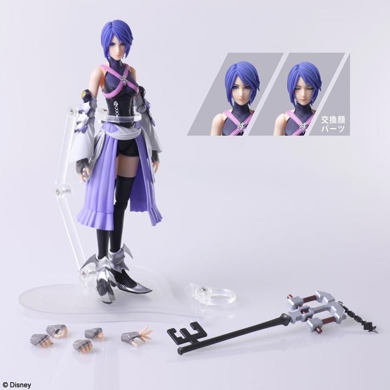 Kingdom Hearts 3 Bring Arts Aqua AF all items