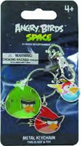 Angry Birds Space Red, Blue & Green Birds Metal Keychain