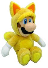 Super Mario Bros Kitsune Luigi 9 Inch Plush