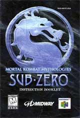 Mortal Kombat Mythologies Sub-Zero (Instruction Manual)