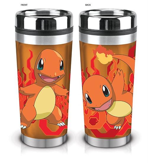 Pokemon Charmander 16oz Travel Mug