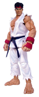 Street Fighter 15th Anniversary Series 1 Ryu w/ White Outfit Action Figure