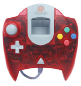 Dreamcast Controller Clear Red by Sega