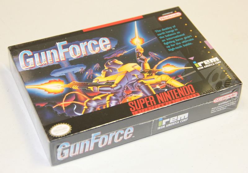 A brand new SNES GunForce is  available for sale