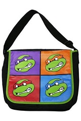 Teenage Mutant Ninja Turtles TMNT Retro Four Square Messenger Bag