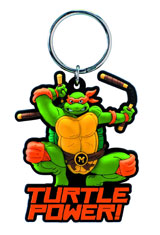 Teenage Mutant Ninja Turtles Michelangelo Soft Touch PVC Keychain